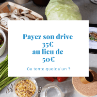 Bon plan courses : 15€ de réduction de réduction immédiate sur un drive de 50€
