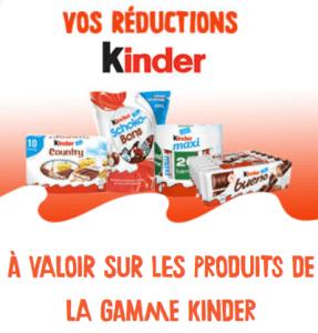 Read more about the article Des bons de réductions Kinder