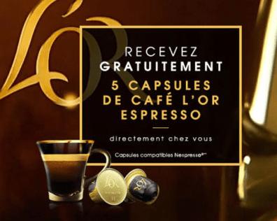 Read more about the article Echantillons de capsule à café L'or Espresso