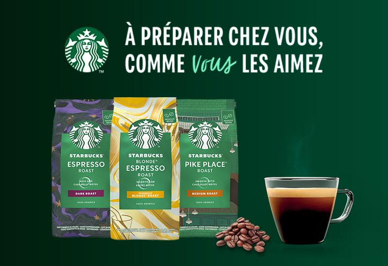 Test les cafés STARBUCKS® en grains