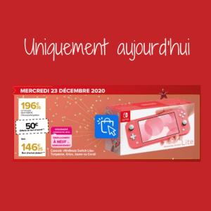 Read more about the article 50€ offerts pour l'achat d'une console Switch Lite chez Carrefour