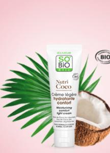 Test  Crème légère hydratante Nutri Coco SO'BiO étic®