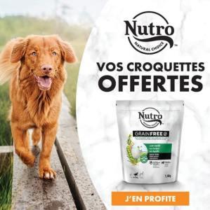 Un bon d'achat de 18€ offert pour des croquettes Nutro