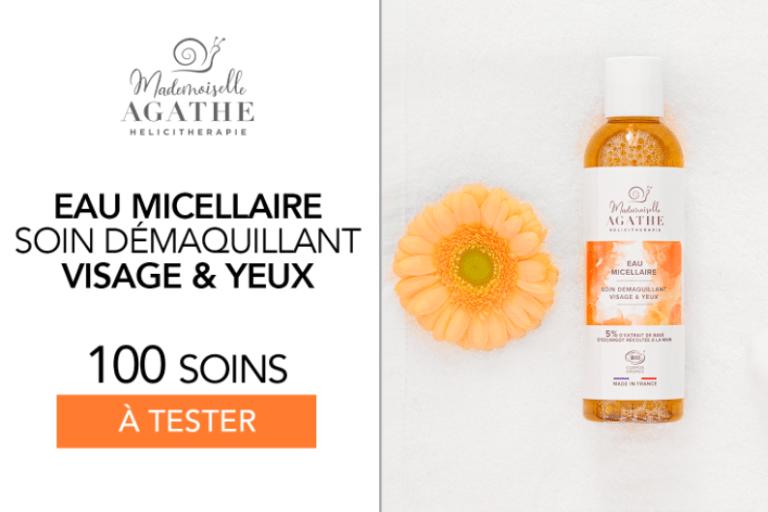 Read more about the article Test gratuit Eau Micellaire Soin Démaquillant Visage et Yeux de Mademoiselle Agathe