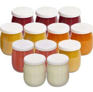 Trouvaille Rakuten : lot de 12 pots de Yaourt en verre avec couvercles