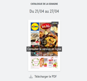 Catalogue Lidl  de la semaine du 21 au 27 avril 2021