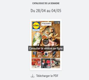 Read more about the article Catalogue Lidl  de la semaine du 28 avril au 04 mai 2021