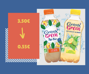 Optimisation : lot de 3 bouteilles Contrex Green