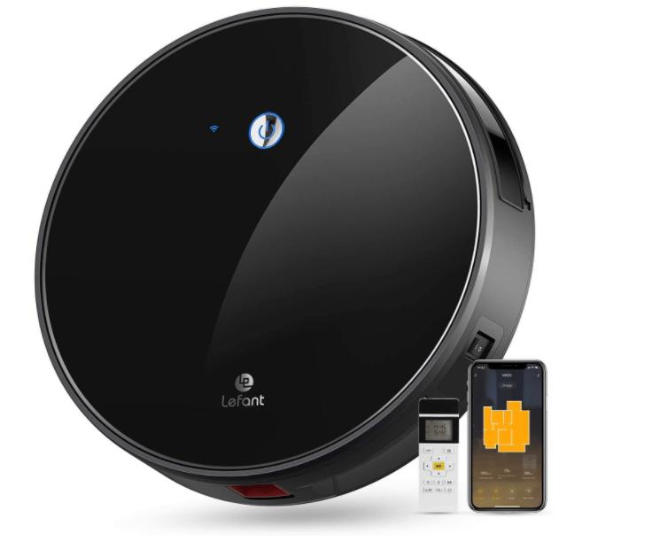 Robot Aspirateur Capacité de 600m Compatible avec Alexa et Googlehome