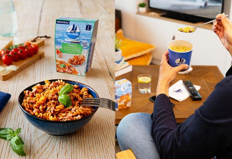 Repas express avec du thon mariné Petit Navire