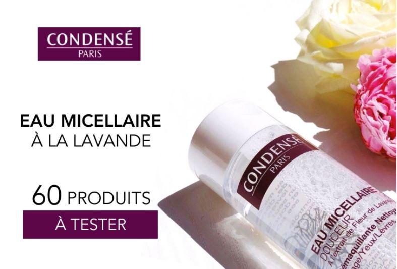 Test gratuit : eau micellaire douceur lavande de Condensé Paris