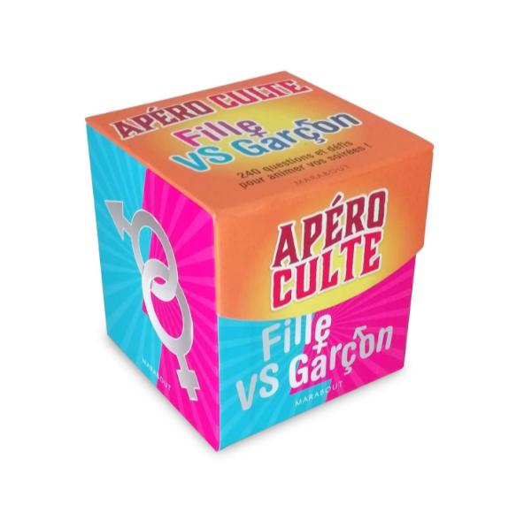Mini-boite Apéro culte filles vs garçons