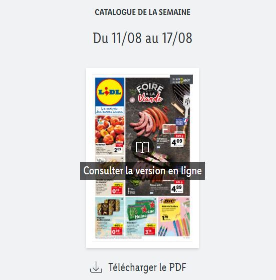 You are currently viewing Catalogue Lidl de la semaine du 11 au 17 août 2021