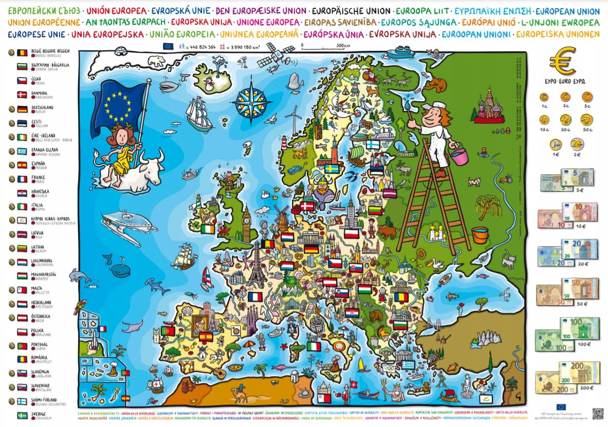 You are currently viewing Carte de l'Europe gratuite