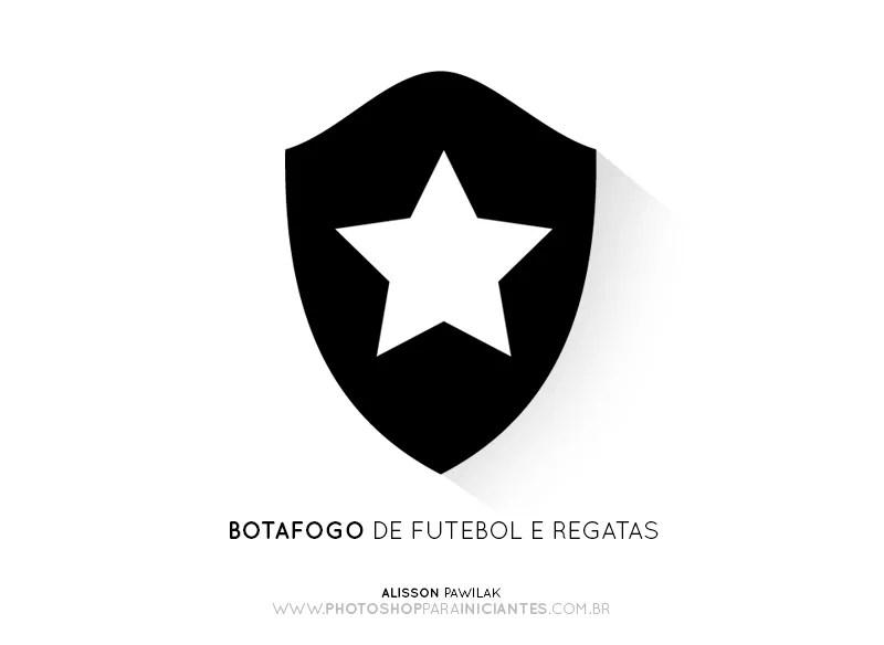 Botafogo - Escudo Minimalista