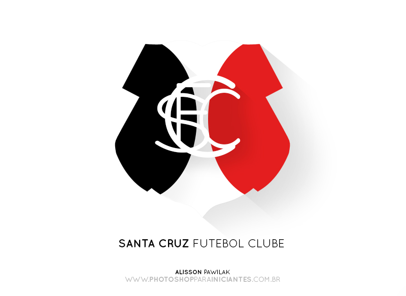 Santa Cruz - Escudo Minimalista