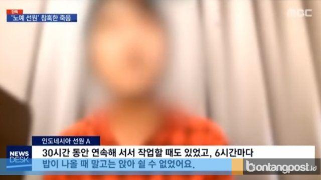 Salah satu ABK WNI yang diduga menjadi korban perbudakan di kapal ikan Tiongkok (MBC News)