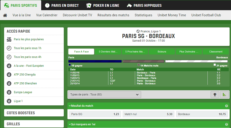 paris unibet