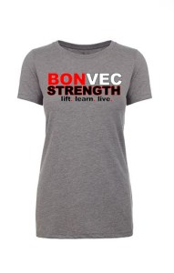 bonvec strength womens tshirt
