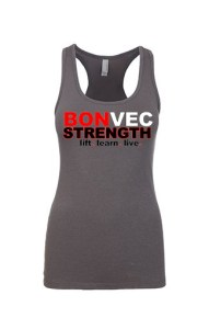 bonvec strength womens tank grey