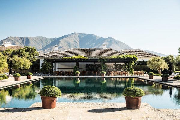a swimming pool at finca cortesin in spain