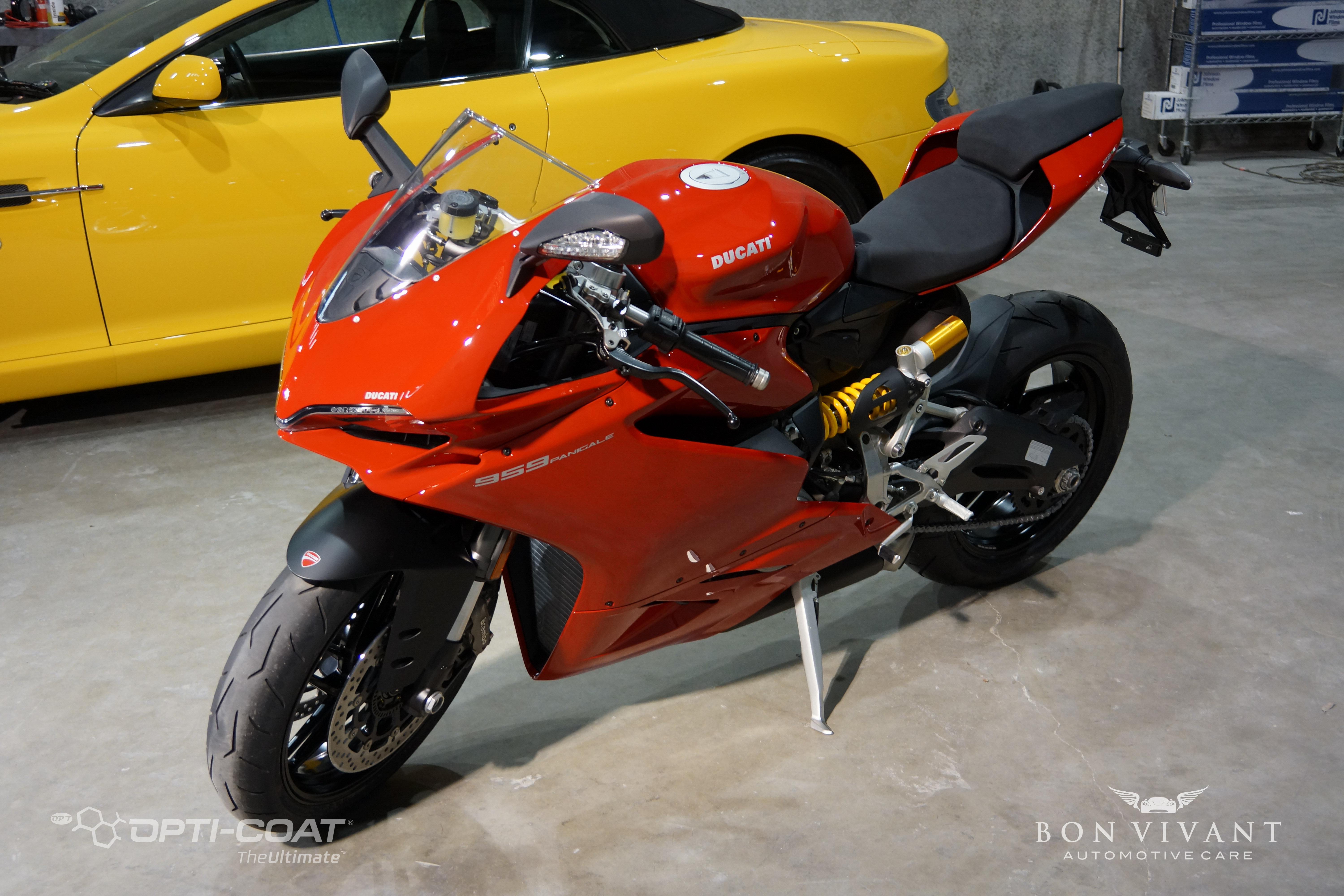 Bon Vivant Paint Protection Coating | Opti-Coat Motorcycle Protection | Ducati 959