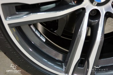 Wheels were removed and coated, remounted to factory torque specs