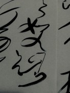 Nothing like deep black ink on pure white paper - grass script or 草書 cǎoshū x #Calligraphy