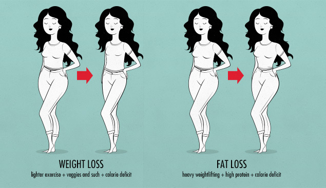 Fat Loss Versus Weight Loss in Women