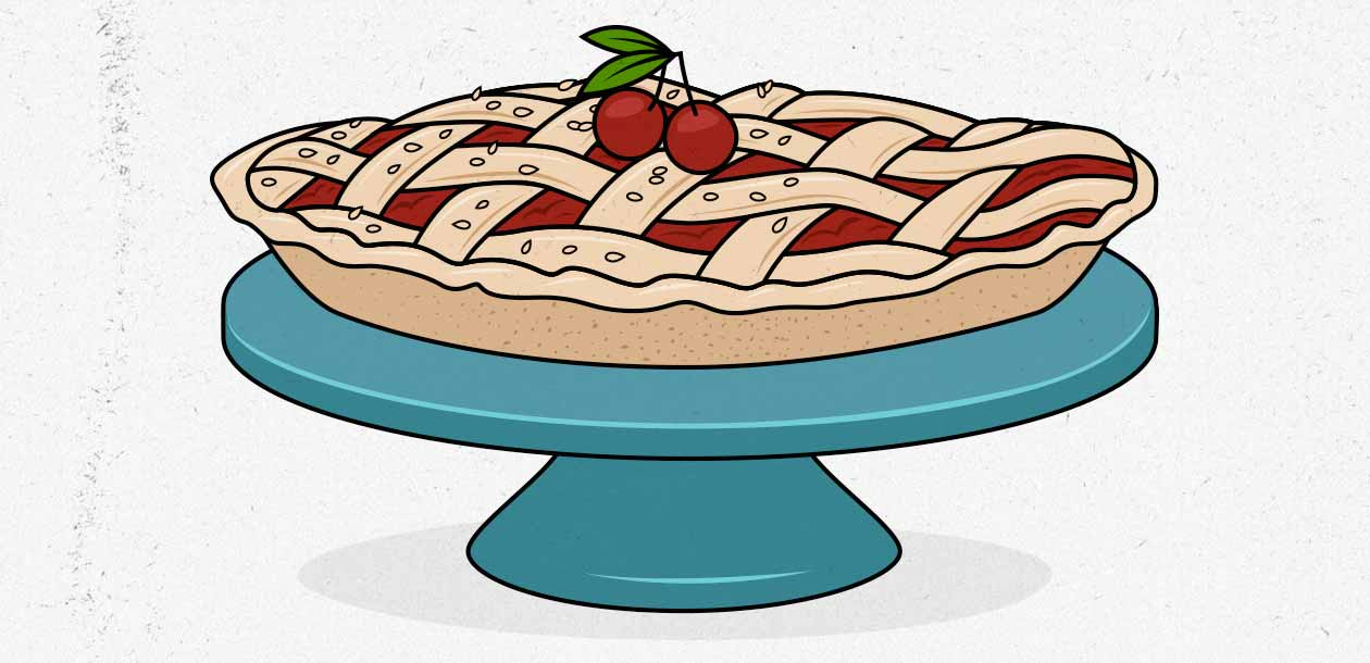 Illustration of a homemade dessert to help a woman gain weight.