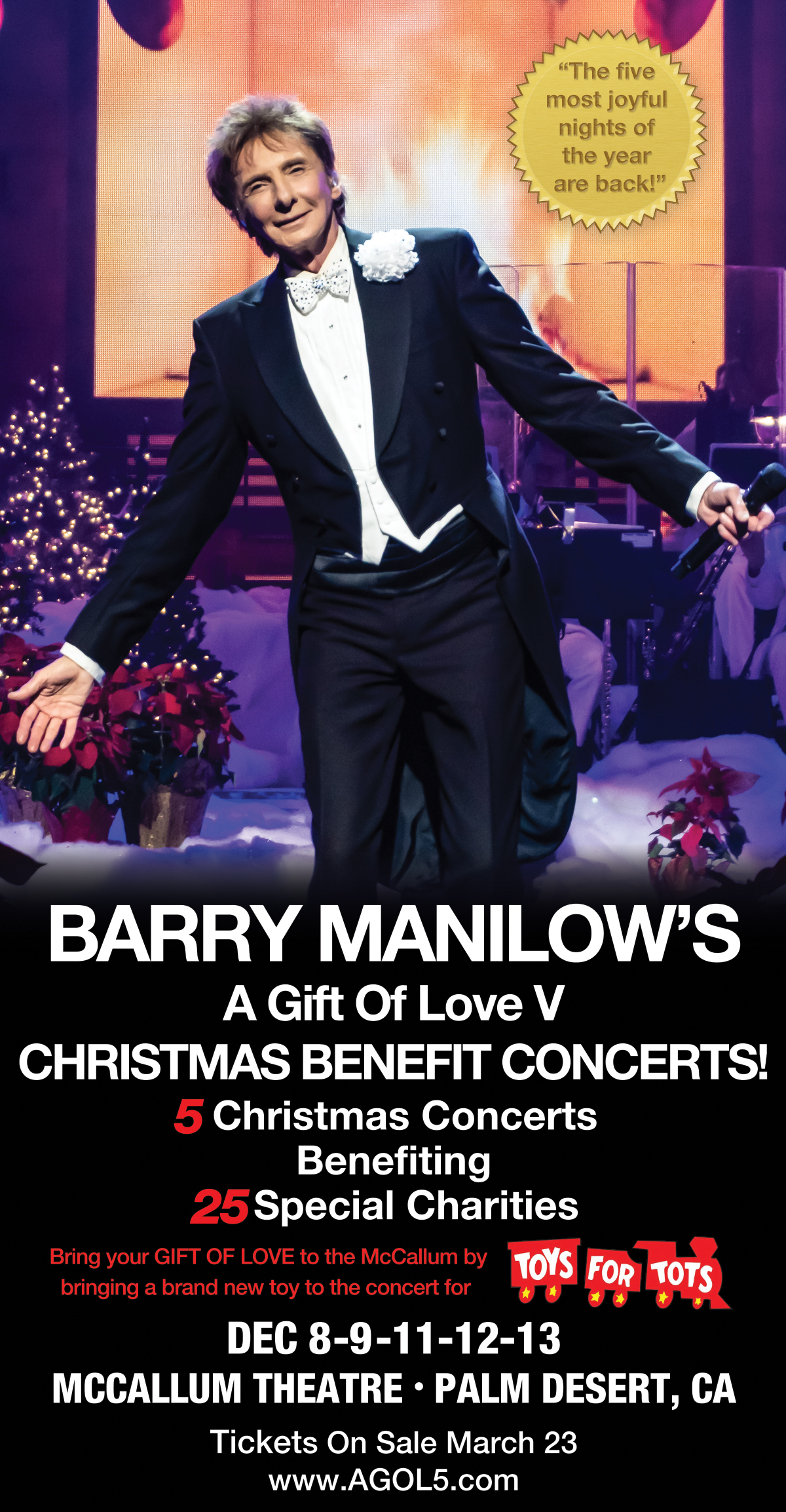 Christmas Love Dec 1 2020 Barry Manilow's 2020 A Gift of Love Christmas Charity Concerts