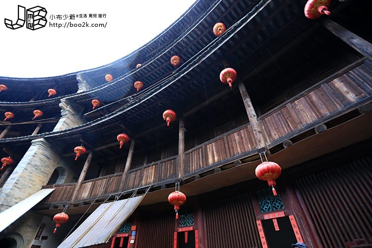 [中國福建]雨中永定洪坑土樓民俗村-振成樓、奎聚樓、福裕樓、如升樓