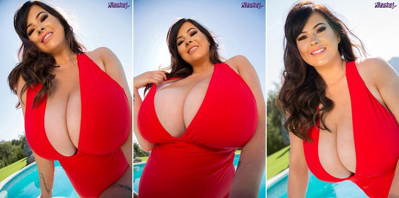 SEXY RED: NEW IMPRESSIVE RACHEL ALDANA SET.