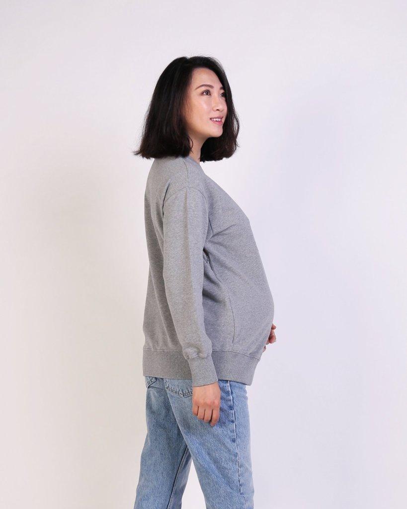 NINE+QUARTER grey sweatshirt