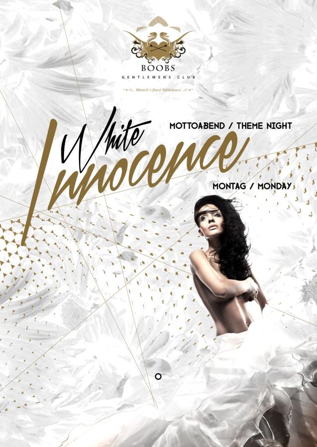 White Innocence Mottoabend / Theme Night jeden Montag im BOOBS Gentlemen's Club - Munich's finest Tabledance Club