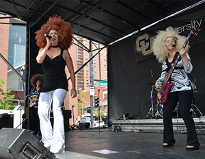 Boogie Machine performing at CU Denver's 40th Anniversary