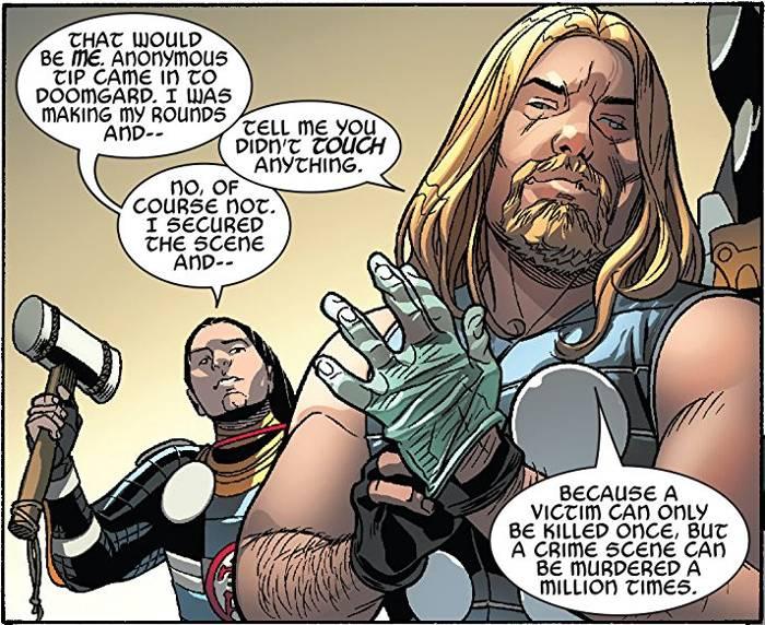 Extrait de Secret Wars Thors