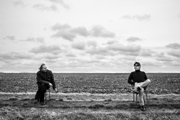 Jean-Louis Aubert et Michel Houellebecq (photo de Barbara d'Alessandri)