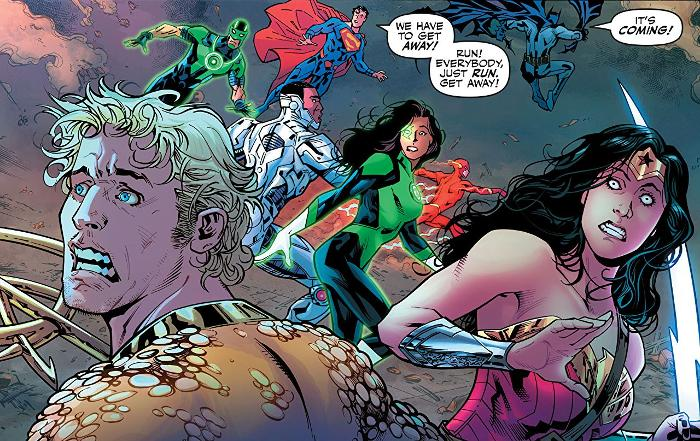 Extrait du comics Justice League tome 2