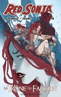 couverture du comics Red Sonja - Le Trône du faucon