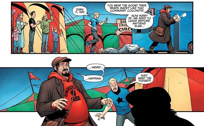 Extrait du du comics « A&A : Les Aventures de Archer et Armstrong »