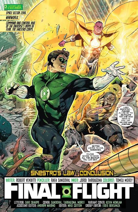 Extrait du comics Green Lantern Rebirth tome 1