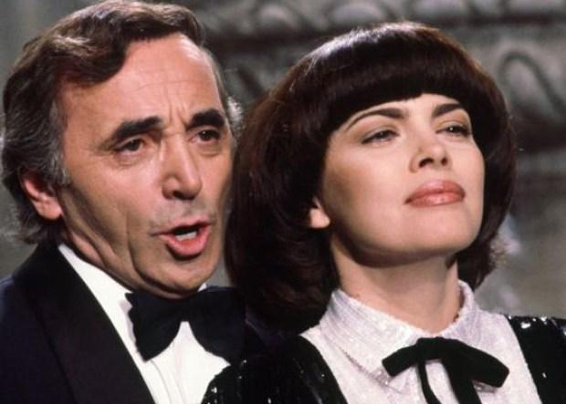 Мирей Матье и Шарль Азнавур на сцене