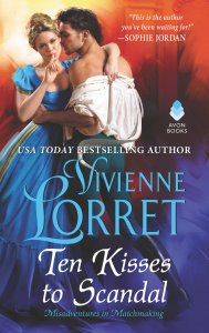 Book Cover: Ten Kisses to Scandal