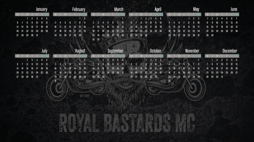 2020 Desktop Calendar - Royal Bastards MC Version 1