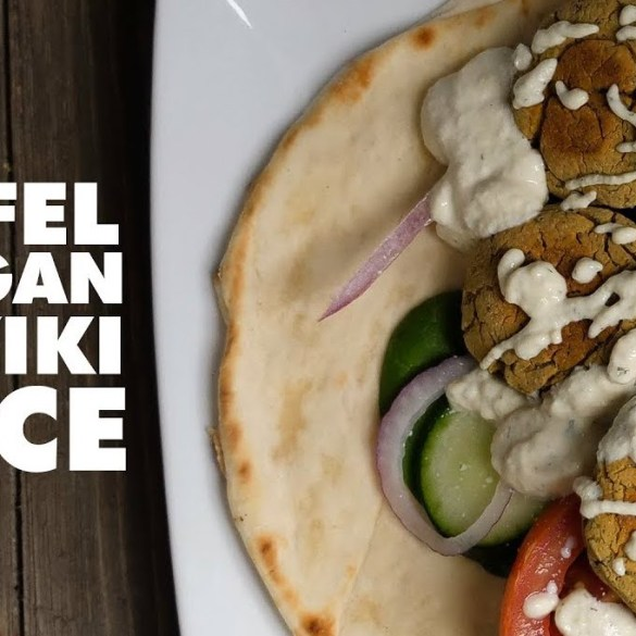 Easy Baked Falafel With Vegan Tzatziki Sauce