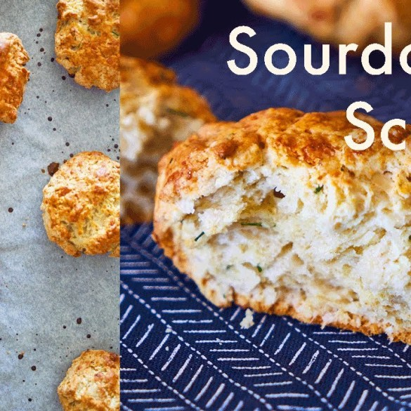 Cheddar & Chive Sourdough Scones