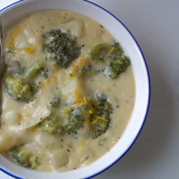 Broccoli and Potato Cheddar Soup