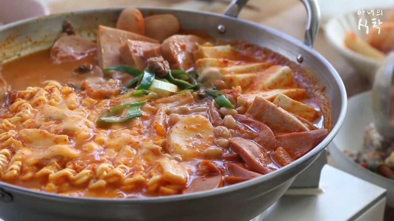 Korean Sausage Stew - Army base stew