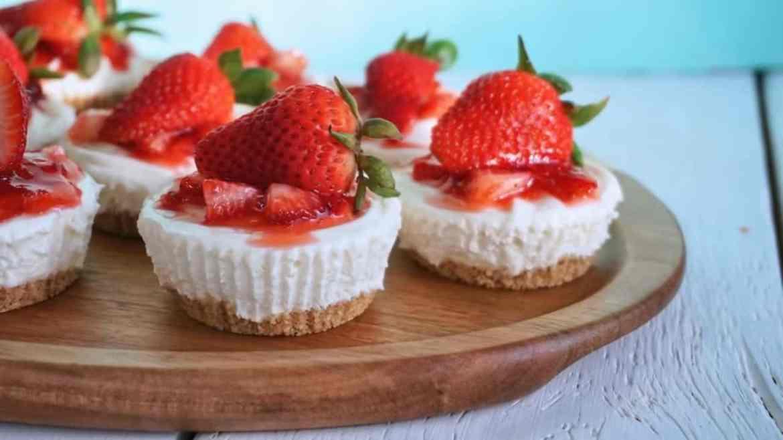 NO-BAKE Mini Cheesecake Bites